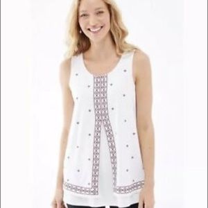 J. Jill embroidered tank top size large
